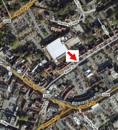 Location of The Bradbury Centre, Rose Street
